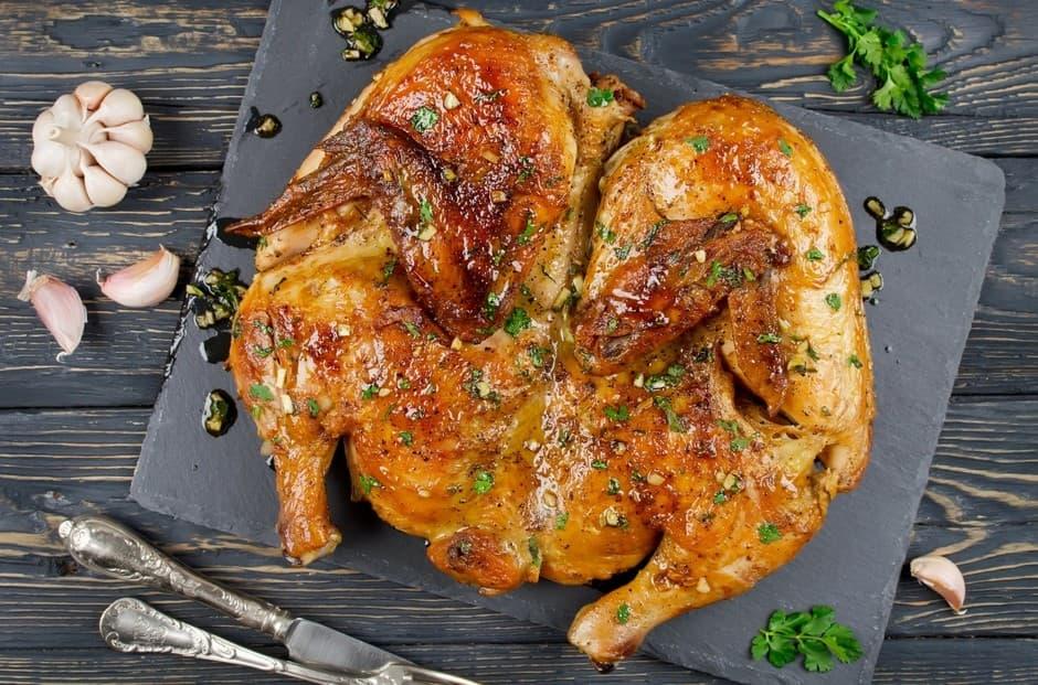 Жареная разделанная курица
