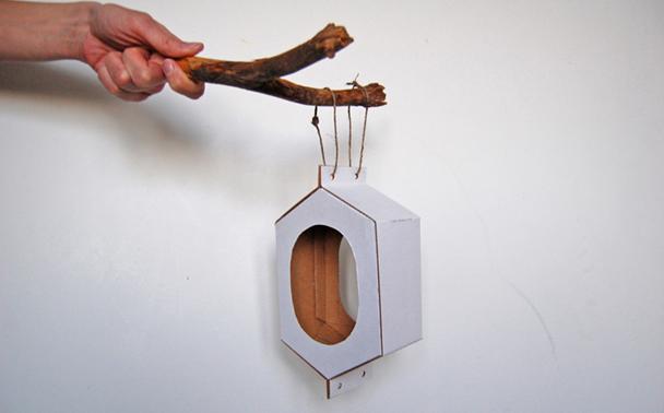 Изготовление кормушки из картона, шаг 12