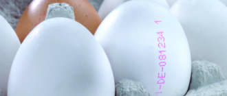 Маркированные куриные яйца